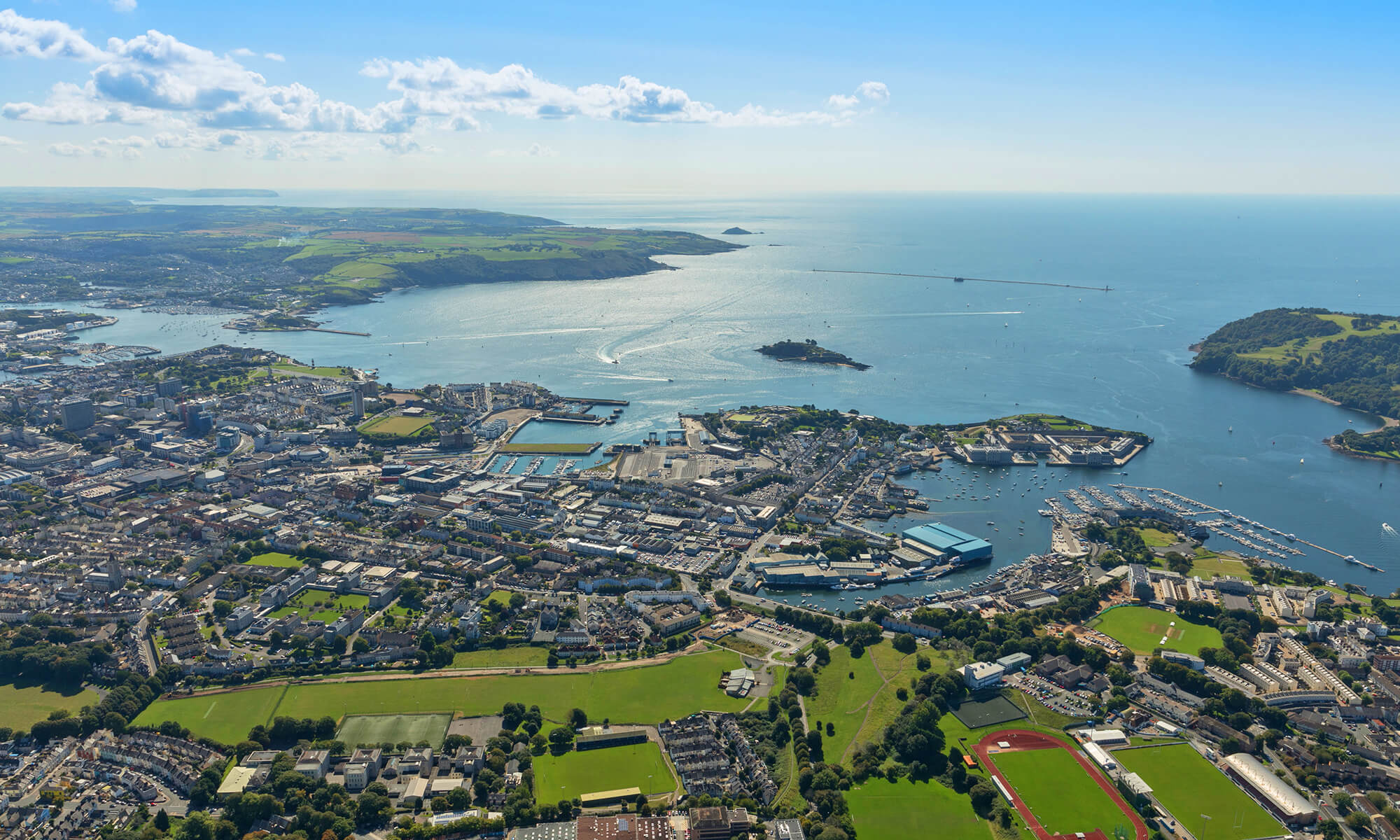 Millbay Plymouth Aerial View